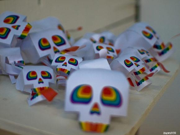 Rainbow and Skull