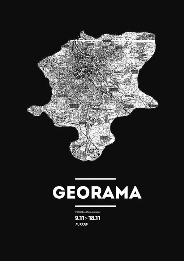 Affiche événement - Installation photo collaborative - GEORAMA