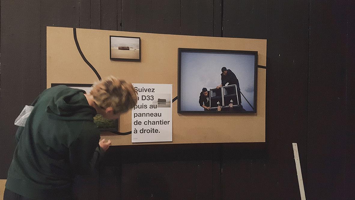 Préparation de l'exposition Julie Hascoët